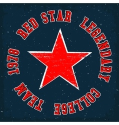 Red star vintage vector image