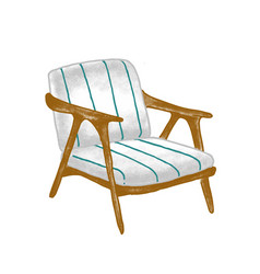 retro armchair flat vintage vector image