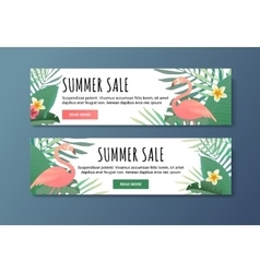 Sale banner for web the shop illyustration vector image