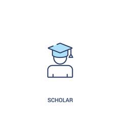Scholar concept 2 colored icon simple line vector