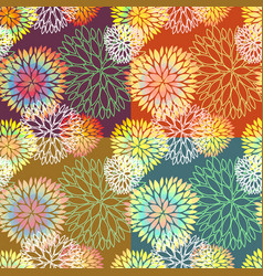 Set of 4 seamless floral backgrounds vector