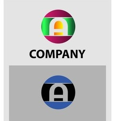 Set of letter A logo icons design template element vector image