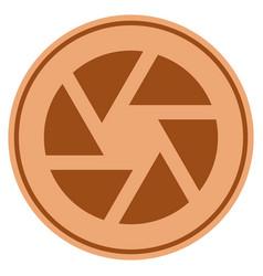 shutter bronze coin vector image vector image