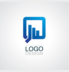 square chat logo vector image