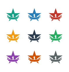 St place star icon white background vector