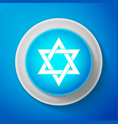 Star of david icon isolated on blue background vector