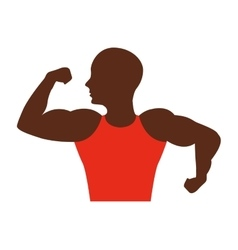 strong man african bodybuilder icon vector image