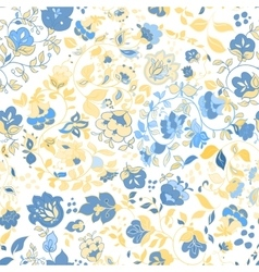 summer doodle seamless pattern floral vector image