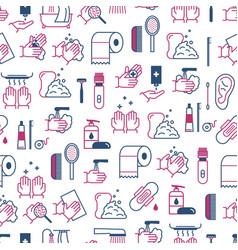 symbol of higiene seamless pattern background vector image