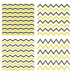 tile seamless pattern zig zag set vector image