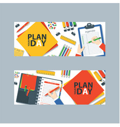 to do list or planning icon concept paper sheets vector image