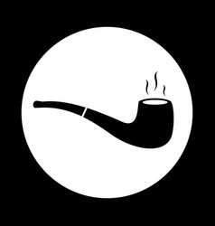 tobacco pipe icon flat simple pictogram vector image