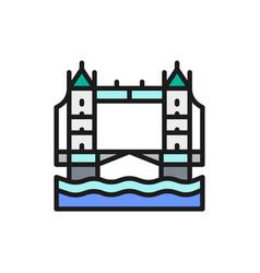 tower bridge london city landscape flat color vector image