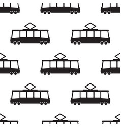 tram pattern in black vector image