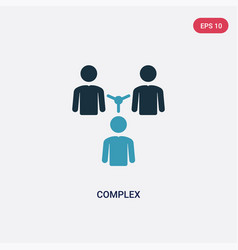 two color complex icon from people concept vector image