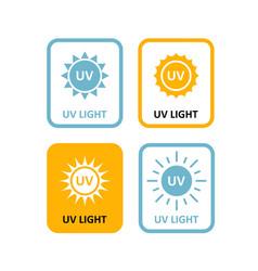 uv light labels sterilization quartz light bulb vector image