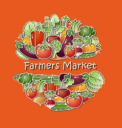 Vegetables farmers market vector