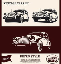 Vintage car label vector
