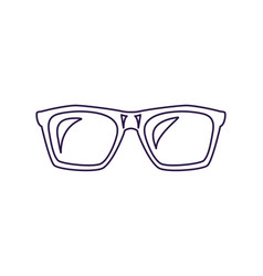vintage glasses isolated icon vector image
