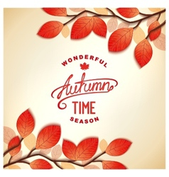 Autumn card design vector image vector image