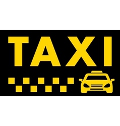 black taxi background vector image vector image