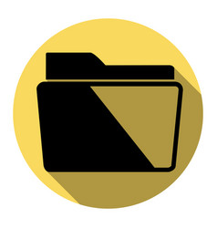folder sign flat black icon vector image
