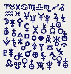 Astrological symbols vector image