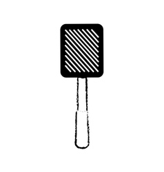 grilled spatula utensil kitchen outline vector image