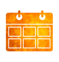 polygon golden icon calendar vector image