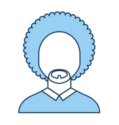 black man with afro vector image