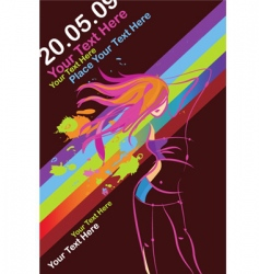 disco party poster template vector image vector image