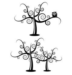 floral filigree tree vector image vector image