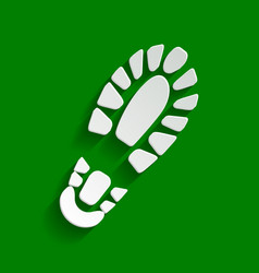 footprint boot sign paper whitish icon vector image vector image