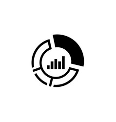 market share icon business concept flat design vector image