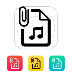 Attached Audio file icon vector image vector image