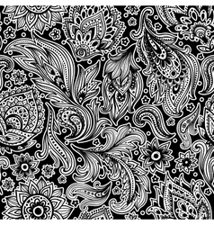 Beautiful floral seamless pattern vector image vector image