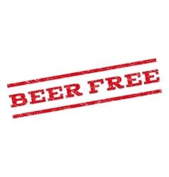 Beer Free Watermark Stamp vector image vector image