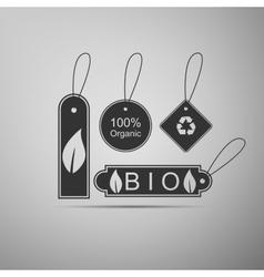 Eco tags icon vector image