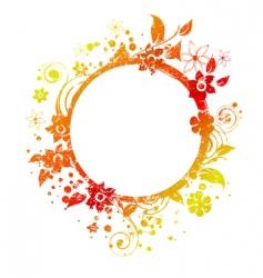 floral round frame 3 v vector image vector image