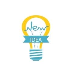 Glowing Yellow Light Bulb New Idea vector image