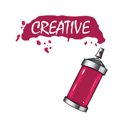 logo sprays with pink paint vector image