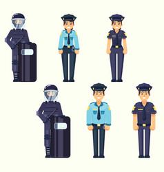 - policeman policewoman special forces vector