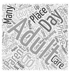A Place to Go Word Cloud Concept vector