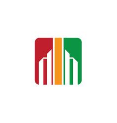 abstract building logo vector image