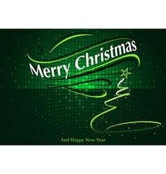 Abstract Green Christmas Greeting vector image vector image