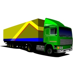 al 0407 truck 02 vector image