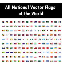 all national flags world vector image