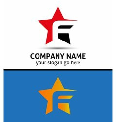 Alphabetical Logo Design Concepts Letter F vector