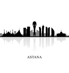 Astana skyline silhouette vector image