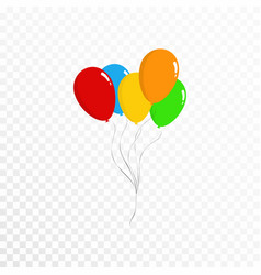Balloons collection bunch of colorful balloons vector